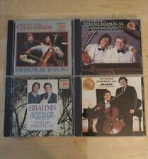 YO-YO MA/EMANUEL AX 4-CD Lot-Brahms, Rachmaninoff,Prokofiev,Strauss,Britten VG+