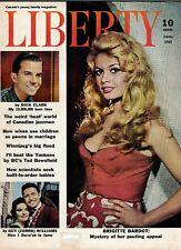 Liberty Magazine June 1959 Cover Story: European Beauty Brigette Bardot lsc13