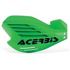 NEW ACERBIS X-FORCE MX HANDGUARDS GREEN & FIXING KIT KAWASAKI KX250F KX450F KX85