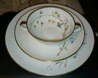 4PC Heinrich Golden Harvest Set Dinner Plate 2 Salad Plates Flat Cream Soup Bowl