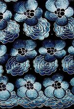 African Swiss Voile Lace Fabric~5 yards~Swiss Made~Navy Blue Mix~Fast P&P!