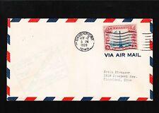 Airport Dedication Scott C11 Air Mail Davenport Iowa 1928 Cover Scarce  4o