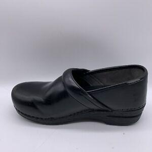 Dansko Woman's XP Black Leather Professional Comfort Clogs Nursing US 9.5-10
