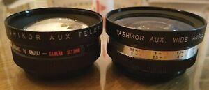 Yashikor Aux Telephoto 1:4 & Aux. Wide Angle 1:4 Lens