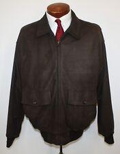 Golden Bear Brown Suede Bomber Flight Jacket A2 Style Men's Large