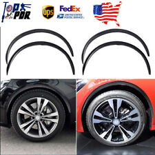 "4x 28.7"" Carbon Fiber Car Wheel Eyebrow Arch Rubber Lips Fender Flares Protector"