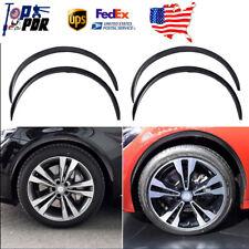 "4x 28.7"" Carbon Fiber Car Wheel Eyebrow Arch Rubber Lips Fender Flares Protector"