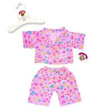 Teddy Bear Clothes fits Build a Bear Teddies Cute Pink PJ's Pyjamas Clothing