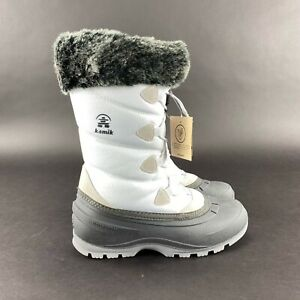Kamik Women's Momentum 2 Waterproof White Winter Boots Size 6