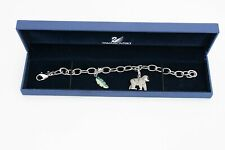 GENUINE SWAROVSKI 'BRACELET WITH GORILLA & BANANA LEAF CHARMS' LIMITED EDITION