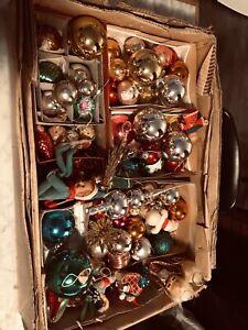Anciennes boules de Noël en verre, décoration sapin