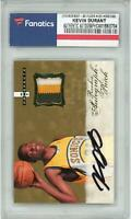 Kevin Durant OKC Thunder Signed 2007-08 Fleer Hot Prospects #123 Rookie Card