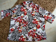 Damen Bluse Gr. 54 * m.collection * rot/bunt * TOP Zustand!