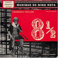 "7"" FRENCH EP 45 TOURS BOF/OST ""8 1/2"" NINO ROTA FEDERICO FELLINI 1963"