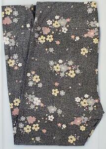 TC LuLaRoe Tall & Curvy Leggings Beautiful Flowers on Gray NWT F53