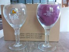 6 verres à bière LEFFE nouveau modèle