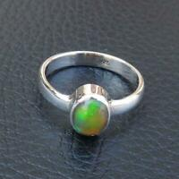 Opal Stone Ring Solid 925 Sterling Silver Ring Band Ring Handmade Ring Sr23