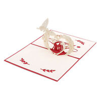 Handmade 3D Pop Up Greeting Cards For Valentines Lovers Couple BL3