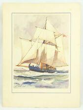 Gordon Grant English Gutter Ship 1935 Original Vintage Lithograph Art Print