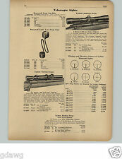 1951 PAPER AD Lyman Rifle Telescope Scope Challenger Alaskan 2.5 4 Power