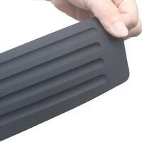 Rubber Car Pickup Rear Guard Bumper Protector Trim Cover Anti-Scratch Pad Black