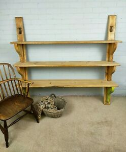 Antique Victorian Pine Pantry / Scullery Shelves