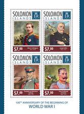 Solomon Islands  2014 World War I, Franz Ferdinand, Albert I of Belgium)