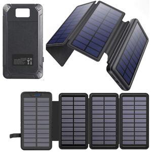 26800mAh Solar Powerbank Externer Batterie Ladegerät 4 Solar Panel Charger DHL