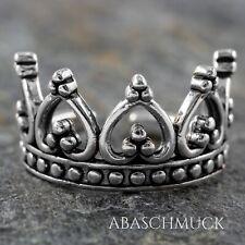 Silberring Silber 925 Ring  Verstellbar Offen R0802 👑 edel, crown,Krone, schick