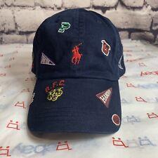 Polo Ralph Lauren Mens All Over College Pennant Baseball Cap Hat NAVY