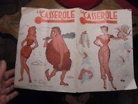 Magazine Humour LA CASSEROLE L'Amour à travers les Ages N° 72 1955