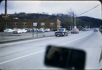 57 Chevy 150 55 Buick Special 35mm Slide 1950s Kodachrome Street View Scene Car