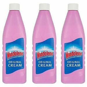 3x Windolene Original Cream Non Smear Emulsion For Glass & Shiny Surfaces 500ml