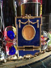 Russian Imperial Empress Alexandra Blue Enamel Photo Frame & Presentation Case