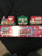 Hermitage Pottery Ceramic Christmas Train Set In Box