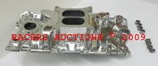 SBC Small Block Chevy 305 327 350 400 Polished Aluminum Intake Manifold Hi-Rise