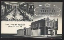 Postcard ST LOUIS Missouri/MO  Ruggeri's Italian Restaurant Dual view 1930's