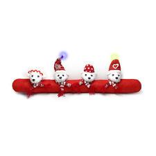 Paraspifferi natalizio Cuccioli imbottito 20x90 cm con luci Z619
