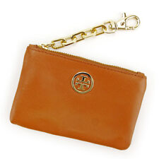 Tory Burch Wallet Purse Coin Purse Brown Gold Woman Authentic Used S553