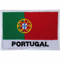 Portugal Flag Embroidered Iron / Sew On Patch Football T Shirt Embroidery Badge