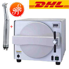 18L Medical Dental Steam Sterilizer Autoclave Equipment Sterilization +Handpiece
