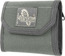 "Maxpedition CMC Wallet 0253F Closed, empty size: 5"" L x 3.5"" H x 1"" W. Open, emp"