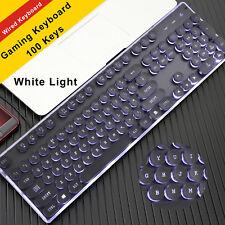 USB Wired Gaming Keyboard QWERTY LED Light Illuminated Backlit Ergonomic Gamer