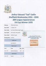 TED BISTURI bitagliente Sheffield Wednesday 1931-1939 molto raro originale firmato a mano taglio