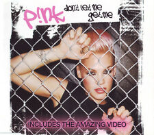 P!INK PINK DON'T LET ME GET ME 3 TRACK CD SINGLE & VIDEO FREE P&P