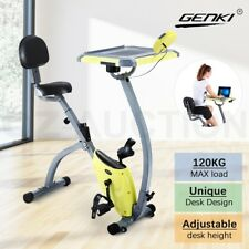 Genki Upright Desk Exercise Bike Folding Magnetic Bicycle Cycling Home Gym