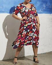 Plus Size Taking Shape Floral Multi Colour ROMANTIC FIELDS DRESS Size XS or 14