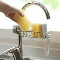 Home Kitchen Faucet Sink Sponge Hanging Tap Storage Holder Drain Rack Organizer