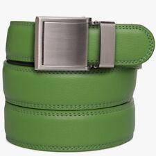 SlideBelts Factory Seconds Kids Green Leather Ratchet Belt