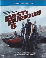 Blu Ray • SLIPCASE Fast and Furious 6 & VIN DIESEL PAUL WALKER ITALIANO